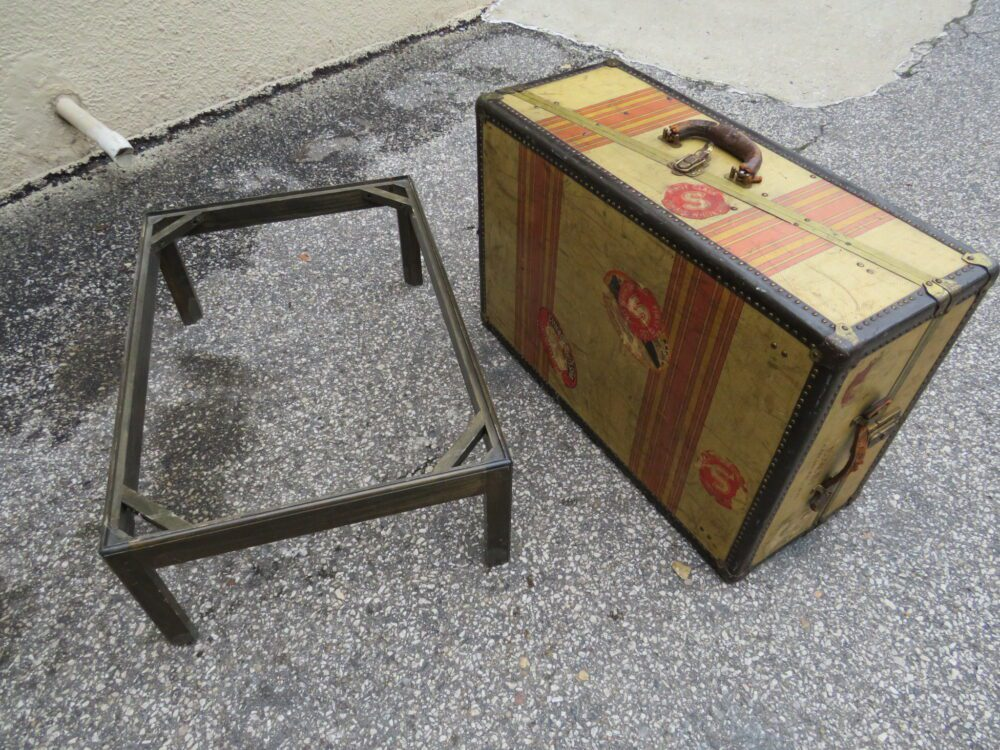 Antique Mahogany Leather Top Table